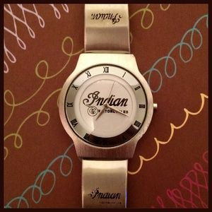 Indian Motorcycle Stainless Steel Wristwatch Watch